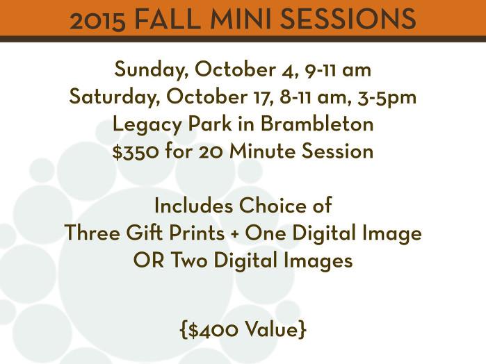2015 Fall Mini Sessions - Local